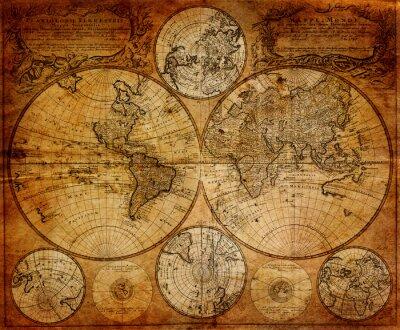 Фотообои Старая карта (1746)