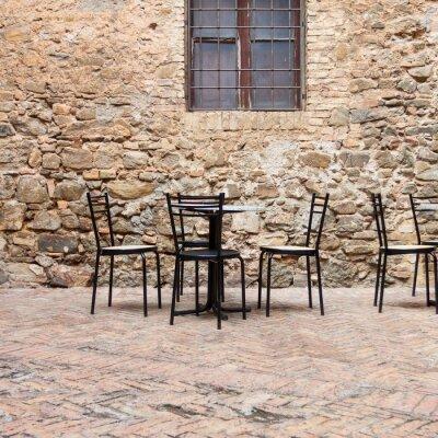 Фотообои Старый летнее кафе в традиционном Тоскана улице