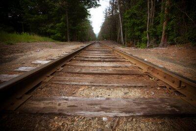 Фотообои Старые железнодорожные пути с старинных текстуры эффекта