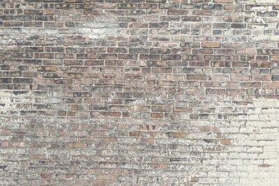 Фотообои Старый красная кирпичная стена с белой краской фоне текстуры