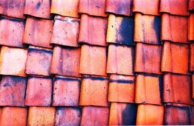 Фотообои Старый красный плитка
