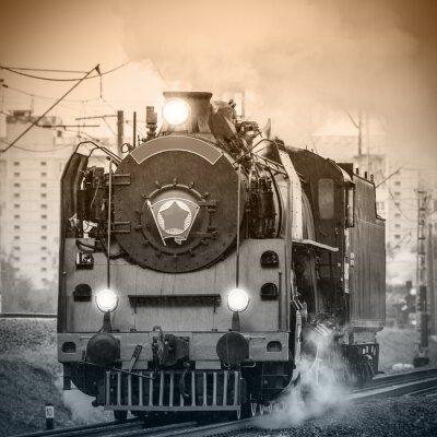 Фотообои Старый ретро русский паровоз.