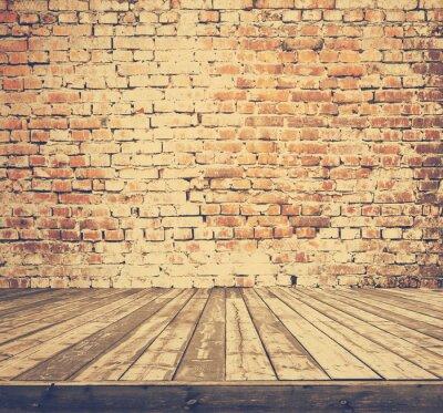 Фотообои старый номер с кирпичной стеной, ретро фильтровали, стиль Instagram