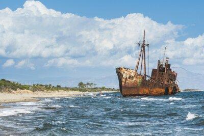 Фотообои Старый деревенский большой корабль