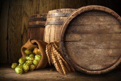 Фотообои Старые деревянные бочки