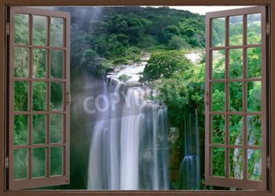 Фотообои Открытое окно на захватывающий водопад Магва возле провинции Мботи-Кейп, Южная Африка