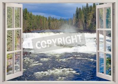 Фотообои Открыть окно просмотра в Dawson Falls, реки Murtle, Wells Gray Provincial Park, Британская Колумбия, Канада