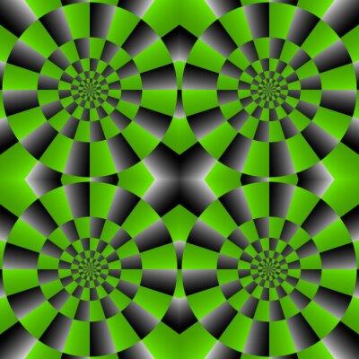 Фотообои Оптические иллюзии Spin Cycle, иллюстрация Pattern абстрактный фон.