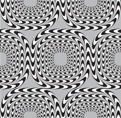 Фотообои Оптическая иллюзия, иллюстрация Бесшовные узор фона, Площади Мо
