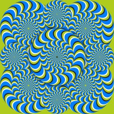 Фотообои оптическая иллюзия волновые круги