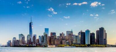Фотообои Paesaggio ди Читта-ди-Нью-Йорк против grattaciel