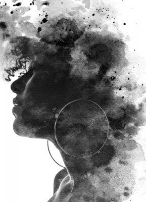 Фотообои Paintography portrait of a young woman