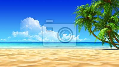 Море песок пляж пальмы  № 3897983 бесплатно