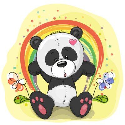 Фотообои Панда с радугой
