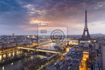 Фотообои Panorama de la ville de Paris avec la Tour Eiffel