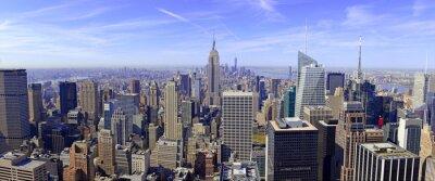 Фотообои Панорама Манхэттен в Нью-Йорке, США