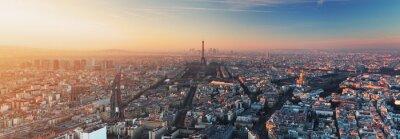 Фотообои Панорама Парижа на закате