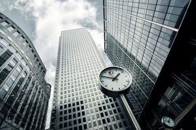 Фотообои Панорамный вид на горизонт зданий в Canary Wharf