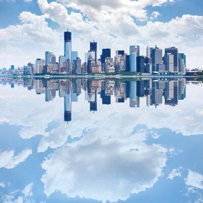 Фотообои Панорамное изображение нижней Манхэттен
