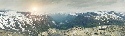 Фотообои Панорамный вид на Норвегии Горный пейзаж