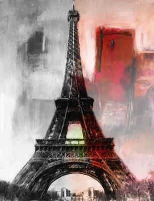 Фотообои Париж Gemälde Eiffelturm Eifelturm Bild Kunst Ölgemälde