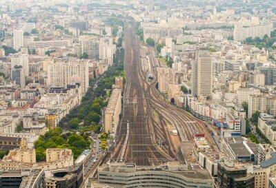 Фотообои Железнодорожный вокзал Париж, как видно из высокой точки зрения