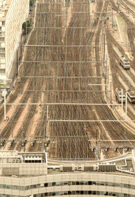 Фотообои Железнодорожный вокзал Париж, Франция. С высоты птичьего полета