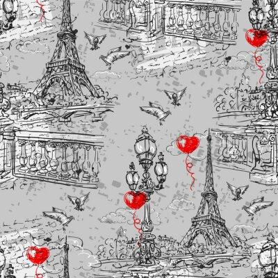 Фотообои Париж. Vintage бесшовные модели 3