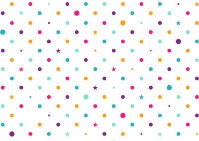 Фотообои Пастельные красочных точек на белом фоне векторной иллюстрации