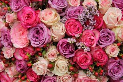 Фотообои Пастель свадебные цветы