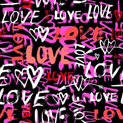 Фотообои Шаблон с ручной росписью слов любви