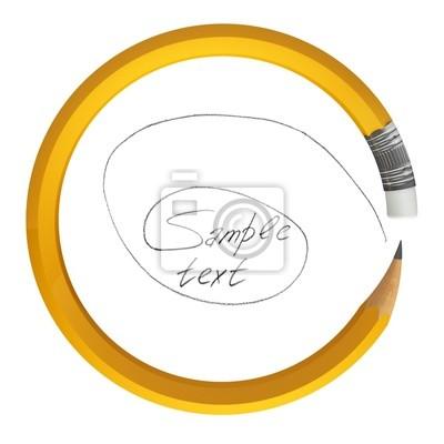 Рисующий карандаш в кругу
