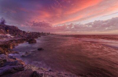 Фотообои PERTH пляж скалы закат