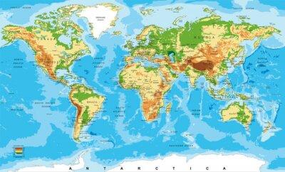 Фотообои Физическая карта мира