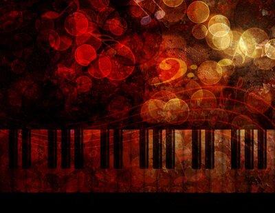 Фотообои Клавиатура для фортепиано Гранж фон иллюстрации
