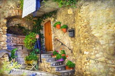 Фотообои Живописные старые улочки итальянских деревень