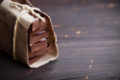 Фотообои Pieces of chocolate packed