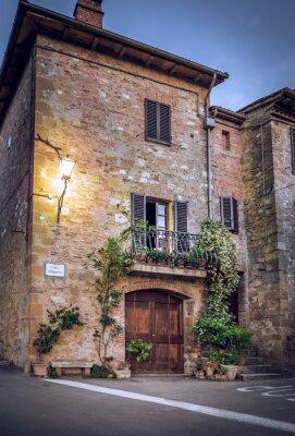 Фотообои Pienza ночью, Тоскана