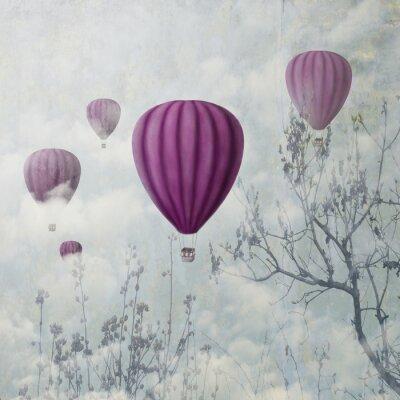 Фотообои Розовые воздушные шары
