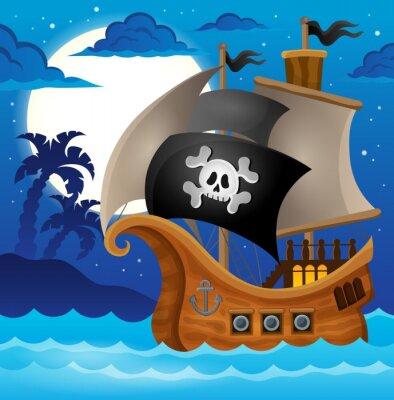 Фотообои Пиратский корабль тему изображение 2
