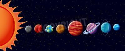 Фотообои Планеты в иллюстрации солнечной системы