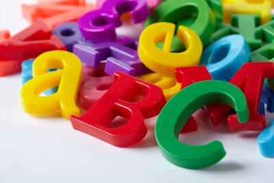 Фотообои Пластиковые буквы алфавита