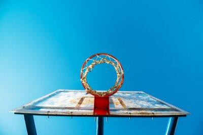 Фотообои Оргстекло уличный баскетбол доска с обручем на открытом корте
