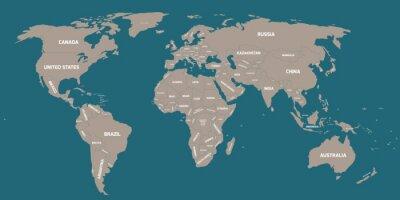 Фотообои Политическая карта мира