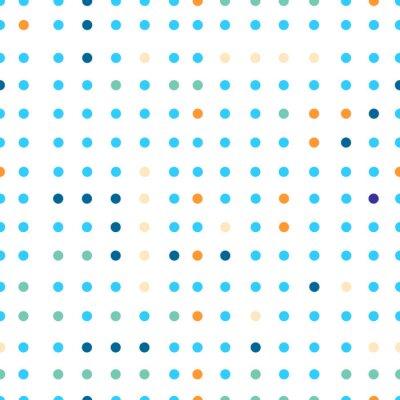 Фотообои Горошек вектор бесшовные модели. Точки разных цветов.