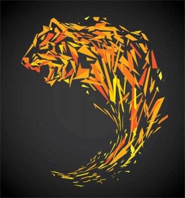 Фотообои многоугольник тигр