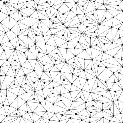 Фотообои Polygonal фон, бесшовные модели, линии и круги