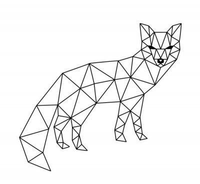 Фотообои многоугольной лис