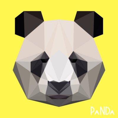 Фотообои Многоугольная геометрическая панда портрет