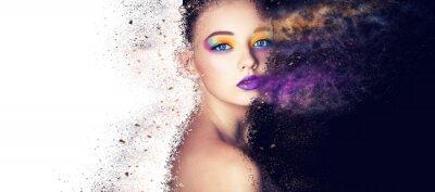 Фотообои портрет модель модель женщина творческий макияж, студия фото